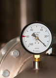 Idustrial manometer Stock Image