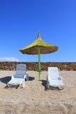 Idyl на пляже Стоковая Фотография