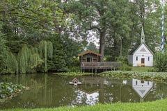 Idyl na lagoa de Erlkam em Baviera superior Imagens de Stock Royalty Free