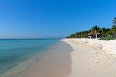 Beach at Playa del Carmen, Mexico Royalty Free Stock Images