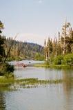 Idylic Lake View Stock Image