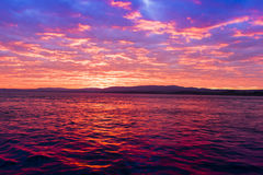 Idylic sunset in Dardanelle strait, Turkey Royalty Free Stock Photos