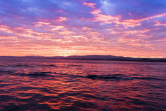 Idylic sunset in Dardanelle strait, Turkey Royalty Free Stock Images