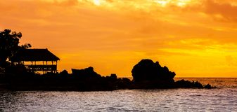 Idylic sunset over indian ocean, Madagascar royalty free stock images