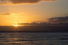 Idylic sunset over indian ocean, Madagascar Stock Photos