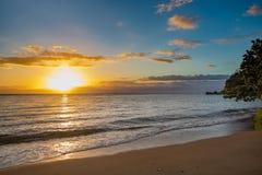 Idylic sunset over indian ocean, Madagascar Stock Photography