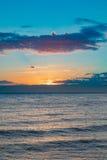 Idylic sunset over indian ocean, Madagascar Royalty Free Stock Photos