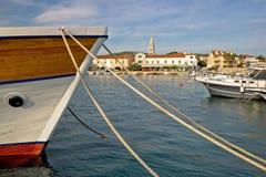 Idylic Turanj harbor and waterfront Royalty Free Stock Photos