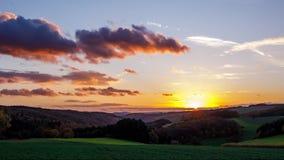 Autumn Sunset Timelapse UHD 60fps