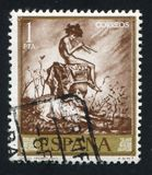 Idyll by Fortuny. SPAIN - CIRCA 1971: stamp printed by Spain, shows Idyll by Fortuny, circa 1971 royalty free stock photos