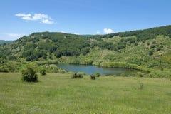 Idyll landscape of Cartolari Lake in Nebrodi Park. Sicily royalty free stock photos