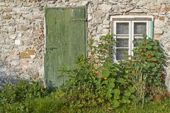 Idyll at old house Royalty Free Stock Photo