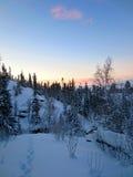 Idylle d'hiver photos stock