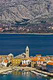 Idyllic adriatic town of Vinjerac. And Paklenica national park, Dalmatia, Croatia Royalty Free Stock Image