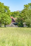 Idyllic agricultural scenery. Near Waldenburg in Hohenlohe at spring time Stock Images