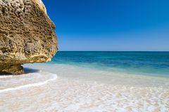 Idyllic Algarvian Beach Stock Image