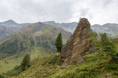 Idyllic alpine landscape at austria. High altitude idyllic alpine landscape at austria Royalty Free Stock Photo