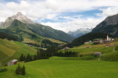 Idyllic Alpine Village in Austria Royalty Free Stock Photos