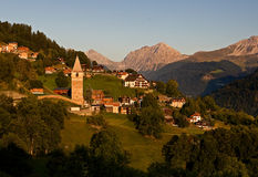 Idyllic alpine village in Switzerland Royalty Free Stock Photos