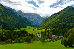 Idyllic Alps valley Stock Photos