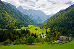 Idyllic Alps valley Royalty Free Stock Photo