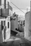 Altea old town street. Idyllic Altea old town street, Costa Blanca, Spain Royalty Free Stock Image