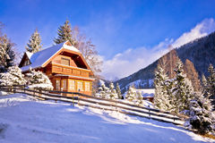 Idyllic Austrian Alps mountain village Stock Photography