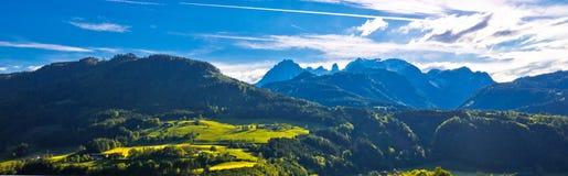 Idyllic austrian Alps panoramic view. Salzburg, Austria Stock Image