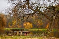 Idyllic autumn scenery. In Lithuania Stock Image