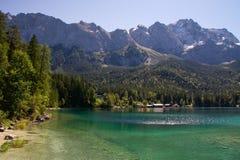 Idyllic azure Eibsee lake Royalty Free Stock Image