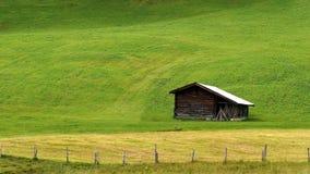 Idyllic barn in the alps Royalty Free Stock Photo