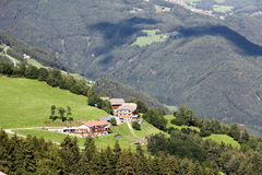 Idyllic Bavarian Landscape, Village And Zugspitze Royalty Free Stock Photography