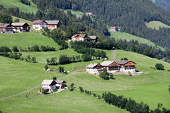 Idyllic Bavarian Landscape, Village And Zugspitze Royalty Free Stock Photos