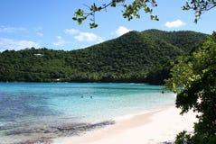 Idyllic Bay on St John. Beach and Bay on the Caribbean island of St John stock image