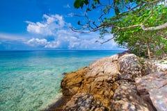 Idyllic beach of Andaman Sea in Tachai island Stock Image