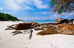 Idyllic beach of Andaman Sea in Tachai island Stock Photos