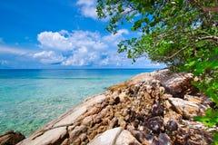 Idyllic beach of Andaman Sea in Tachai island Stock Photography