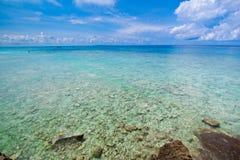 Idyllic beach of Andaman Sea in Tachai island Royalty Free Stock Photography