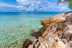 Idyllic beach of Andaman Sea in Tachai island - Thailand Stock Photos