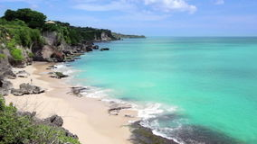 Idyllic Beach at Bali island stock video