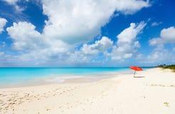Idyllic beach at Caribbean Stock Photography