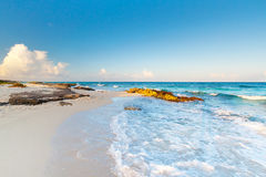 Idyllic beach of Caribbean Sea Stock Image