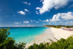 Idyllic beach at Caribbean Stock Photography