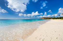 Idyllic beach at Caribbean Royalty Free Stock Photos