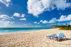 Idyllic beach at Caribbean Stock Photos