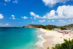 Idyllic beach at Caribbean Stock Photo