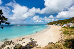 Idyllic beach at Caribbean Royalty Free Stock Photo