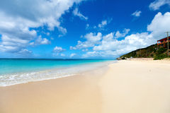 Idyllic beach at Caribbean Royalty Free Stock Images