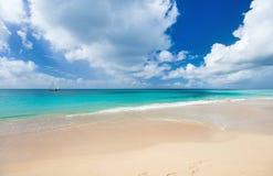 Idyllic beach at Caribbean Royalty Free Stock Photos