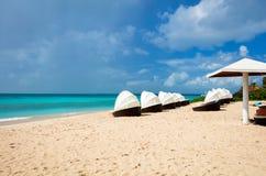 Idyllic beach at Caribbean Royalty Free Stock Photography